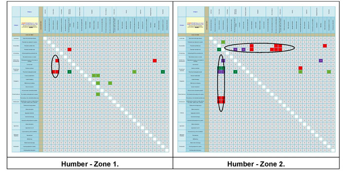 Figure 24a:  Main conflict scores for the Humber Estuary.